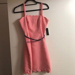 Pink polka-dot Dress